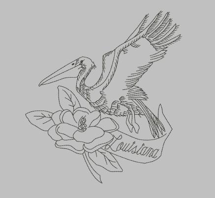 Louisiana Machine Embroidery Design