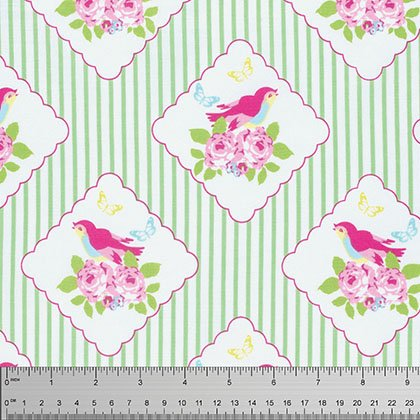 Tanya Whelan Zoey Framed Birdies Green