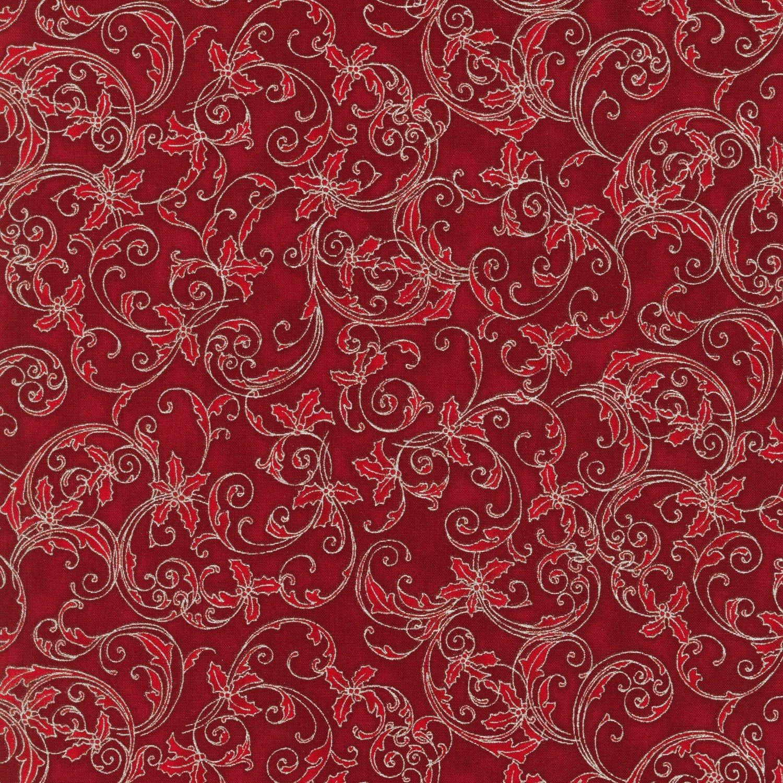 Cranberry Scroll Metallic