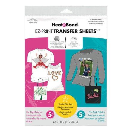 EZ Print Inkjet Transfer Sheets Combo