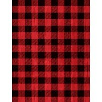 Snowy Wishes Buffalo Plaid Red/Black