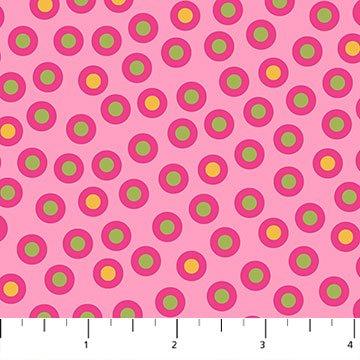 Urban Elementz Basix Pink Circles with Green/Yellow