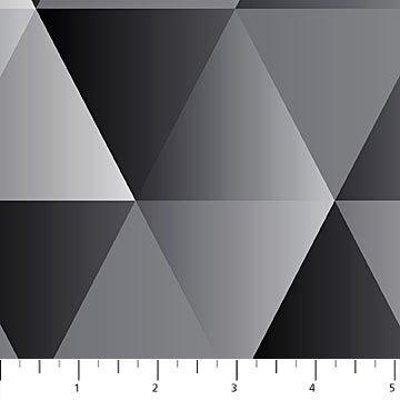 Majestic Black & Grey Large Triangles