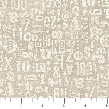 Letters, Numbers & Symbols Taupe