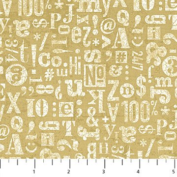 Letters, Numbers & Symbols Gold