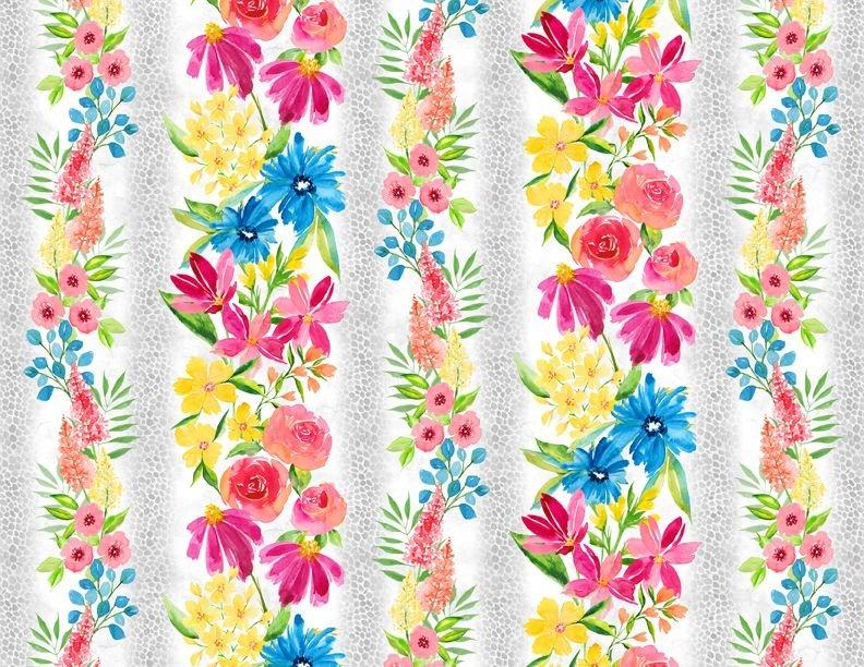 Bloom True Border print