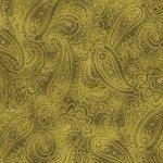 Radiant Paisley Moss Green/Gold Metallic