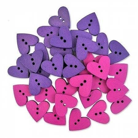 Wood Heart Buttons