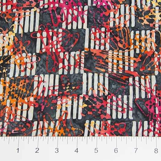 Checkerboard & Squiggles Orange Grey