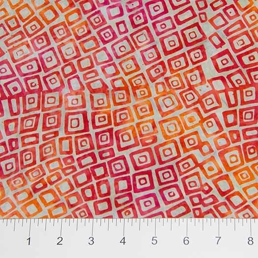 Wavy Squares Orange/Grey