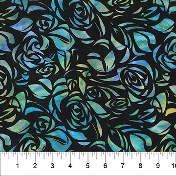 Cubism Ocean Blues Flowers