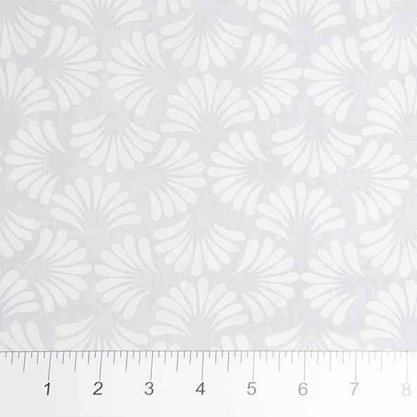 Banyan Batiks White on White Circles & Dots