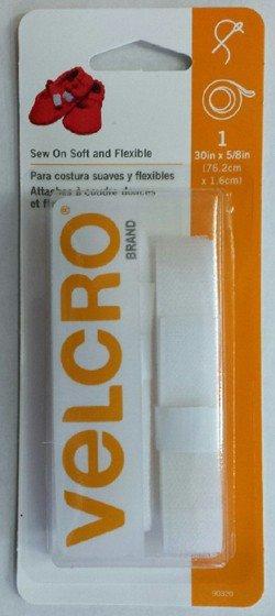 Velcro White 30 x 5/8