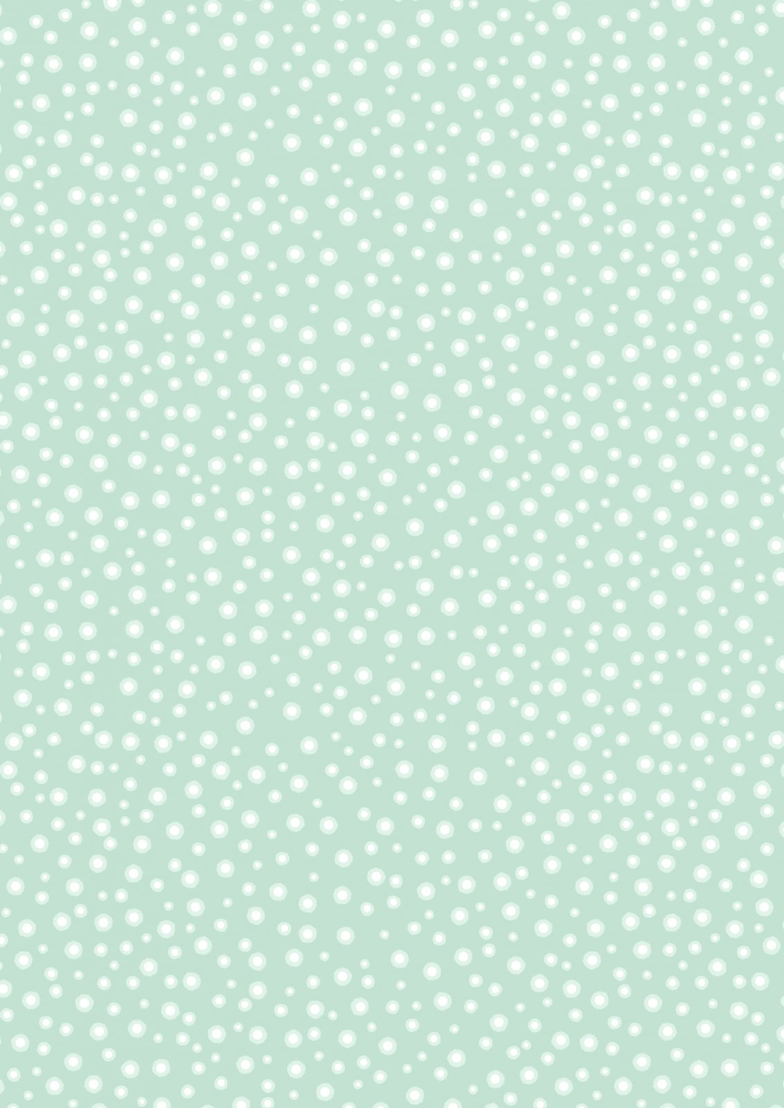 Glow in the Dark Dots on Mint Green