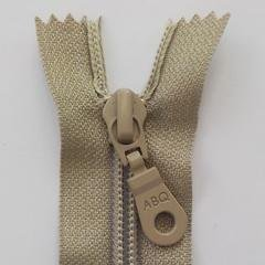 22 Non-separating Zipper Simply Taupe
