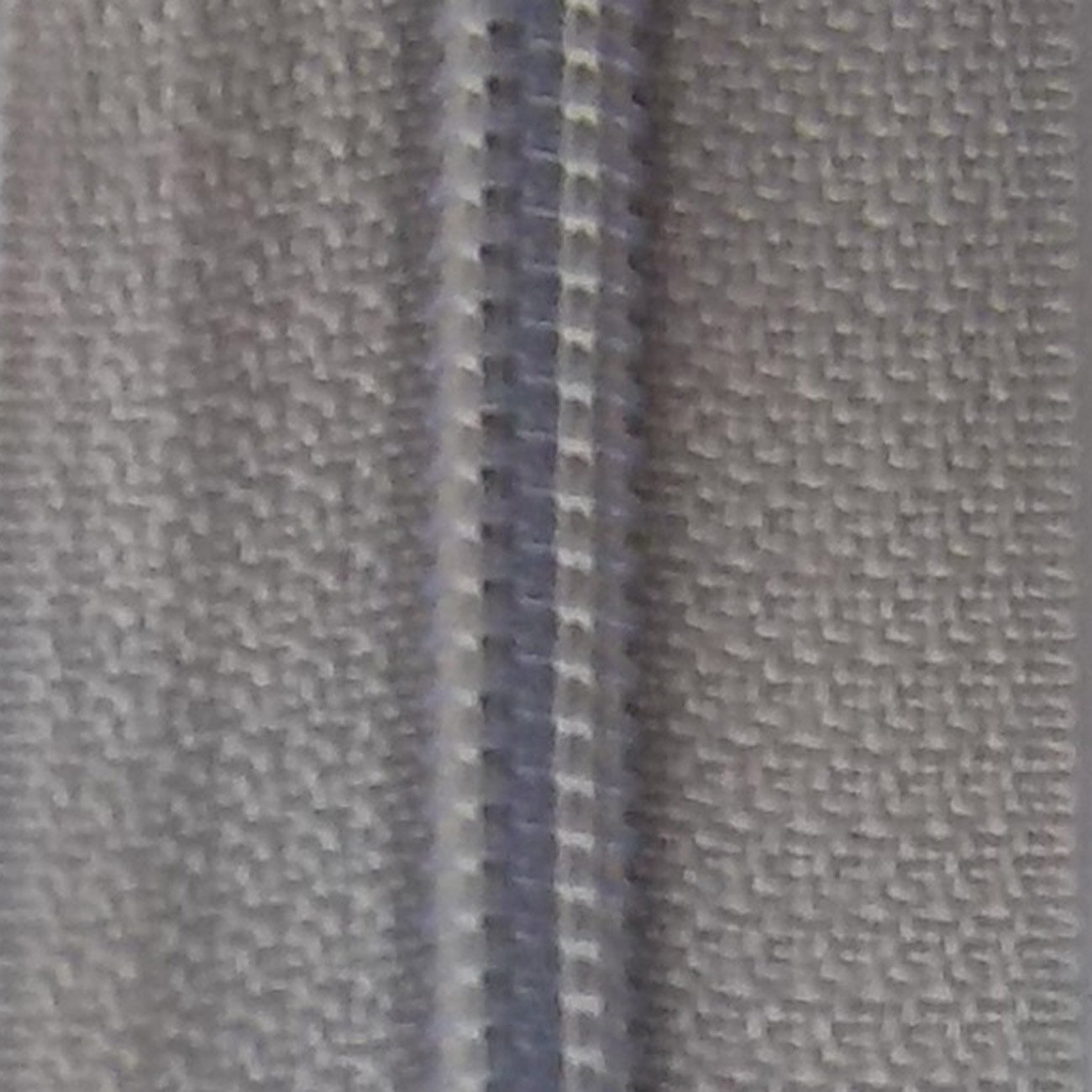 30 Double Pull Non Separating Zipper Silver Gray