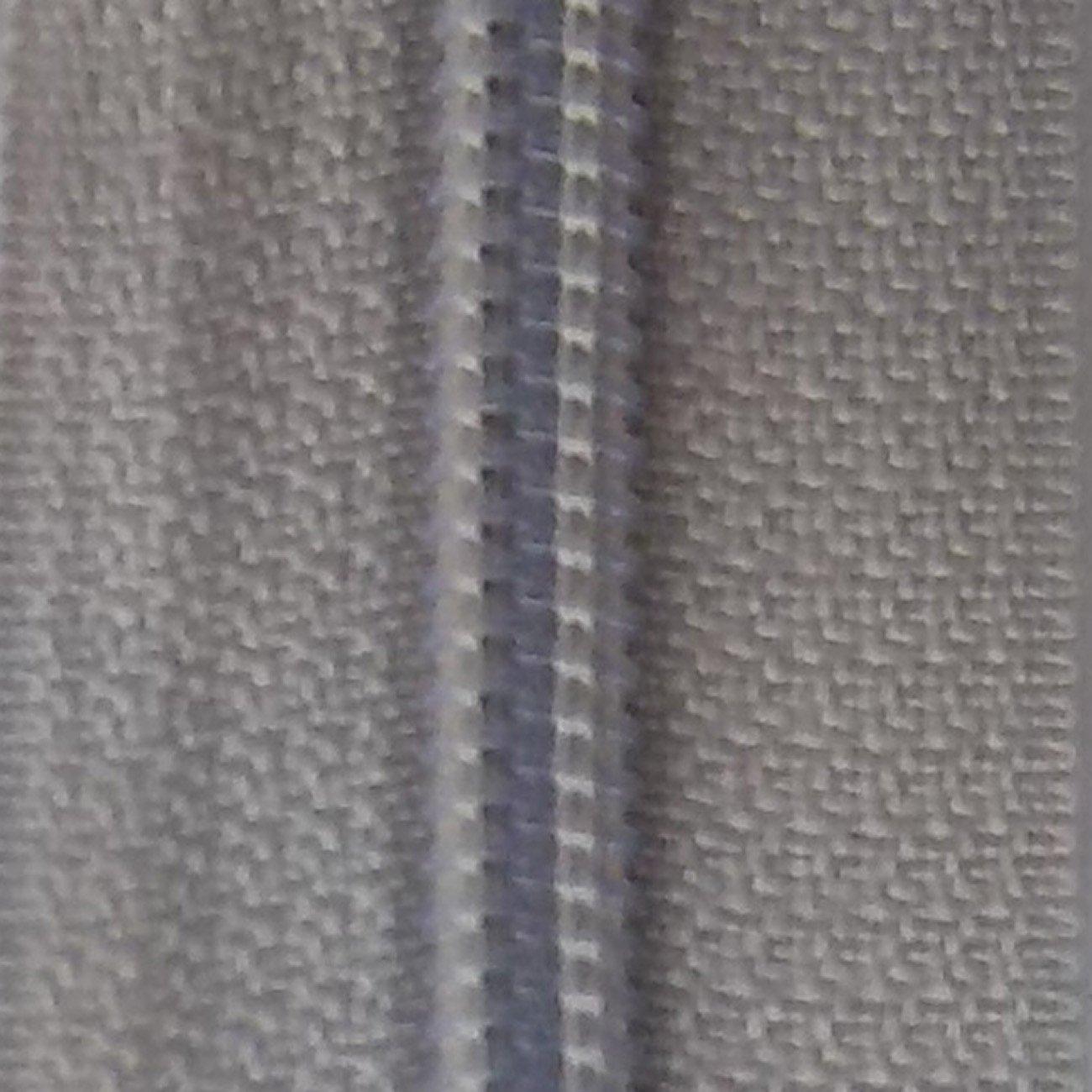 22 Non-separating Zipper Silver Gray