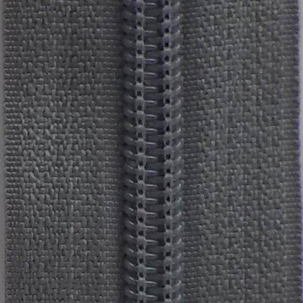 30 Double Pull Non Separating Zipper Charcoal Gray
