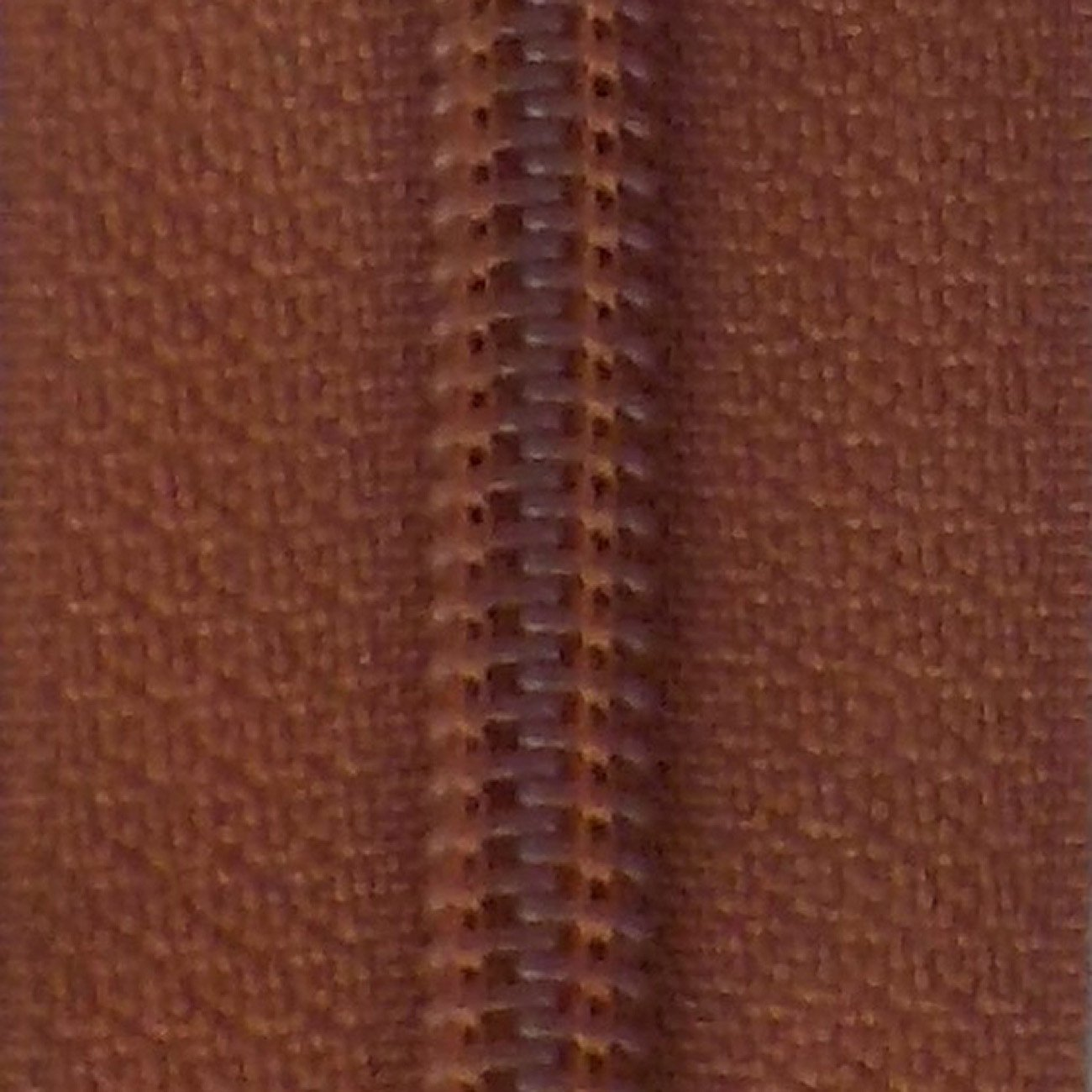30 Double Pull Non Separating Zipper Leather Brown