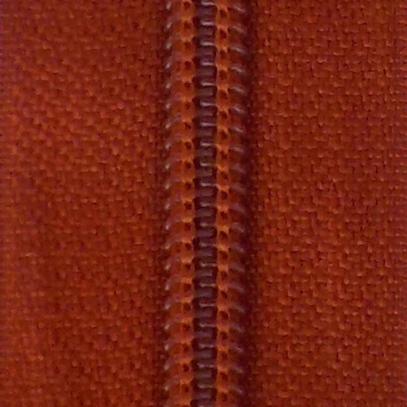 14 Nylon Coil Zipper Rust