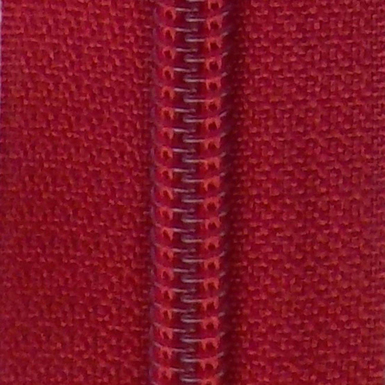 14 Nylon Coil Zipper True Red