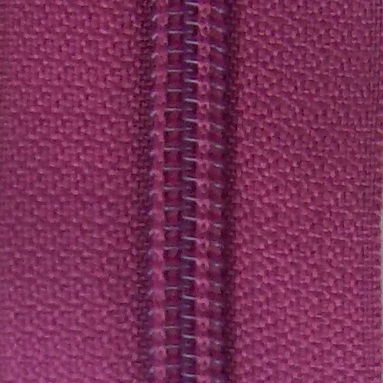 14 Nylon Coil Zipper Magenta Haze