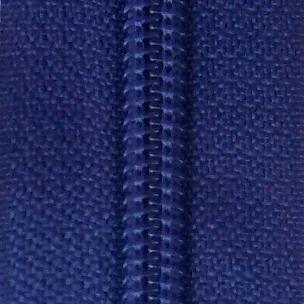 30 Double Pull Non Separating Zipper Royal Blue
