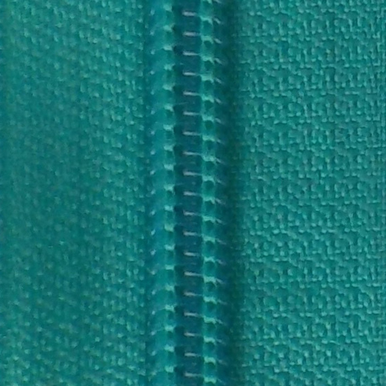 30 Double Pull Non Separating Zipper Turquoise