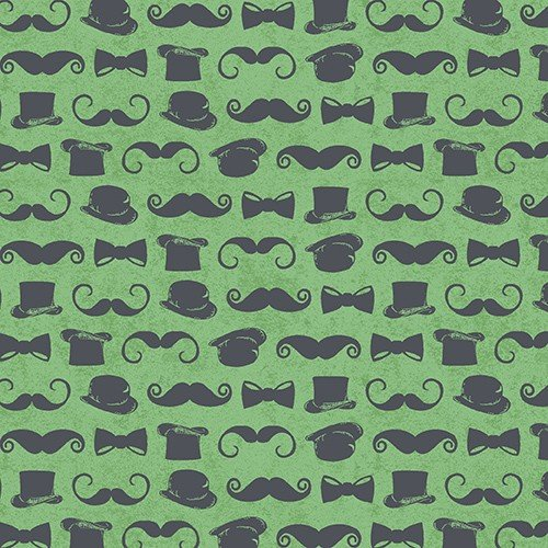 Chillingsworth Bicycle/ Moustache & Top Hat Green