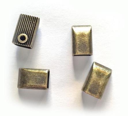 Zipper Ends Antique Brass