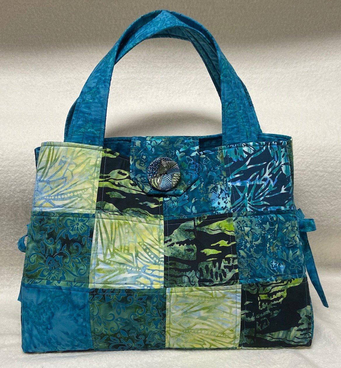 Batik Teal & Green Charming Bag Kit