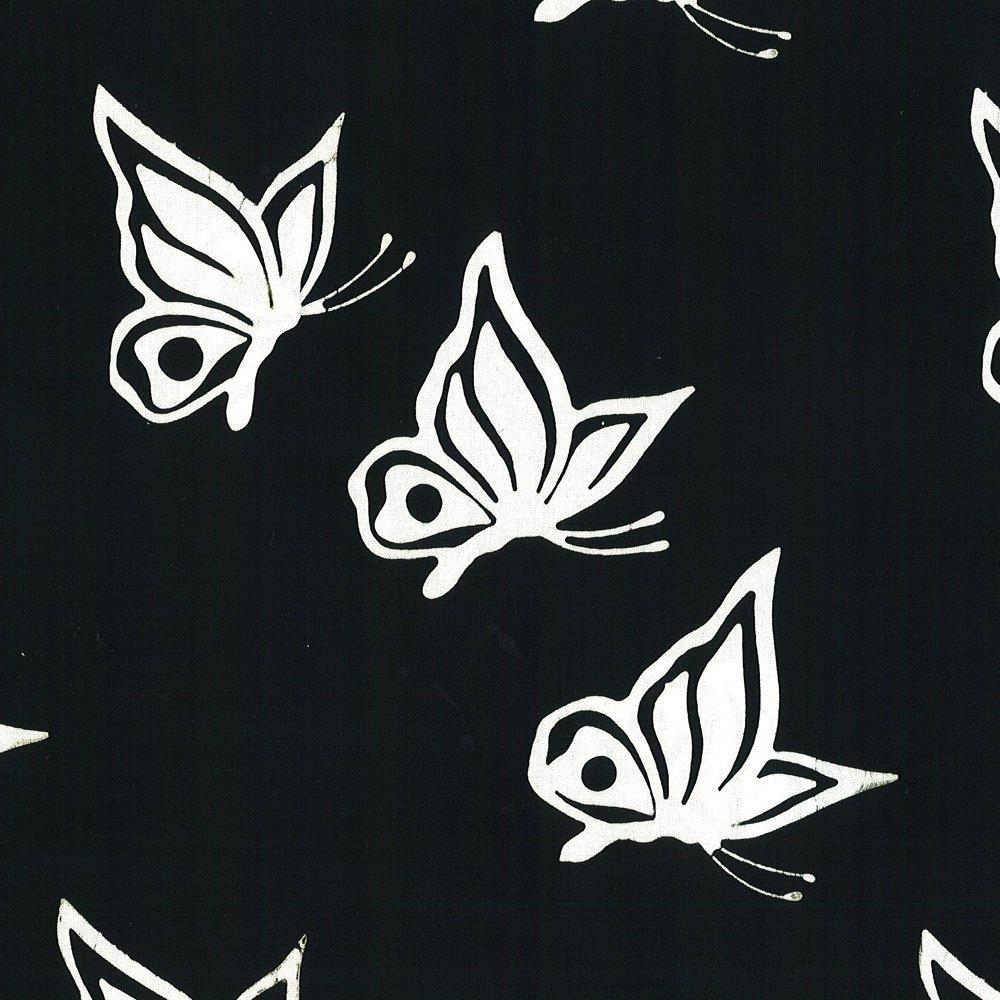 Cantik Batik Canada Black/White Butterflies