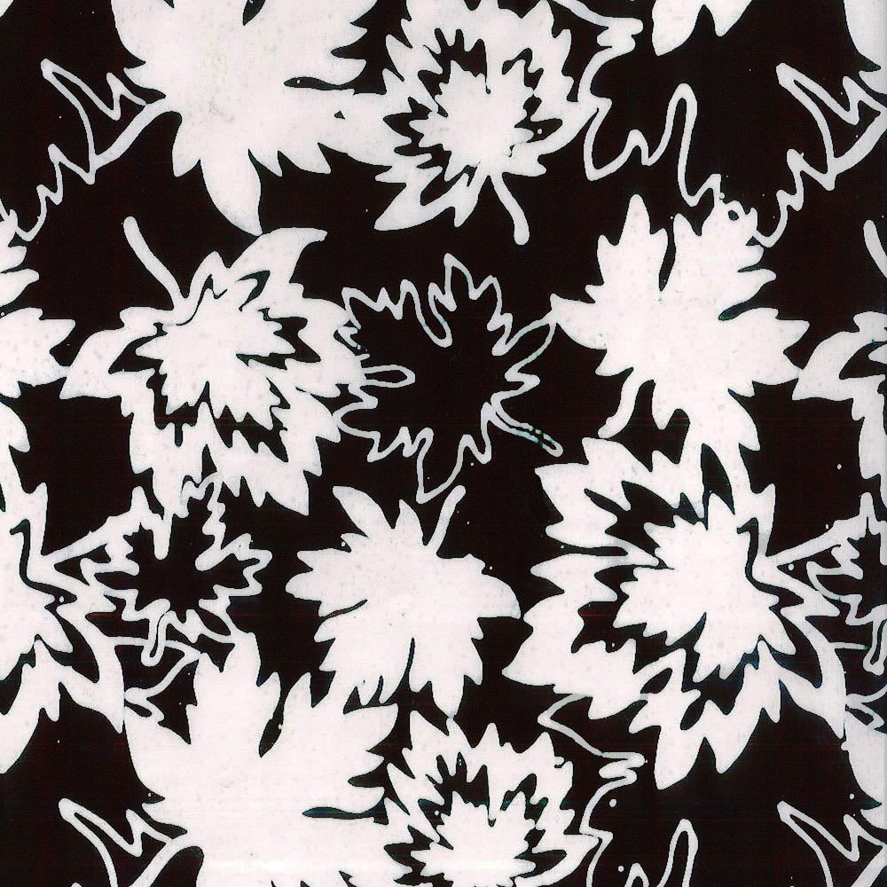 Cantik Batik Canada Black/White Canadian Maples