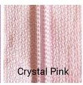 30 Double Pull Non Separating Zipper Crystal Pink