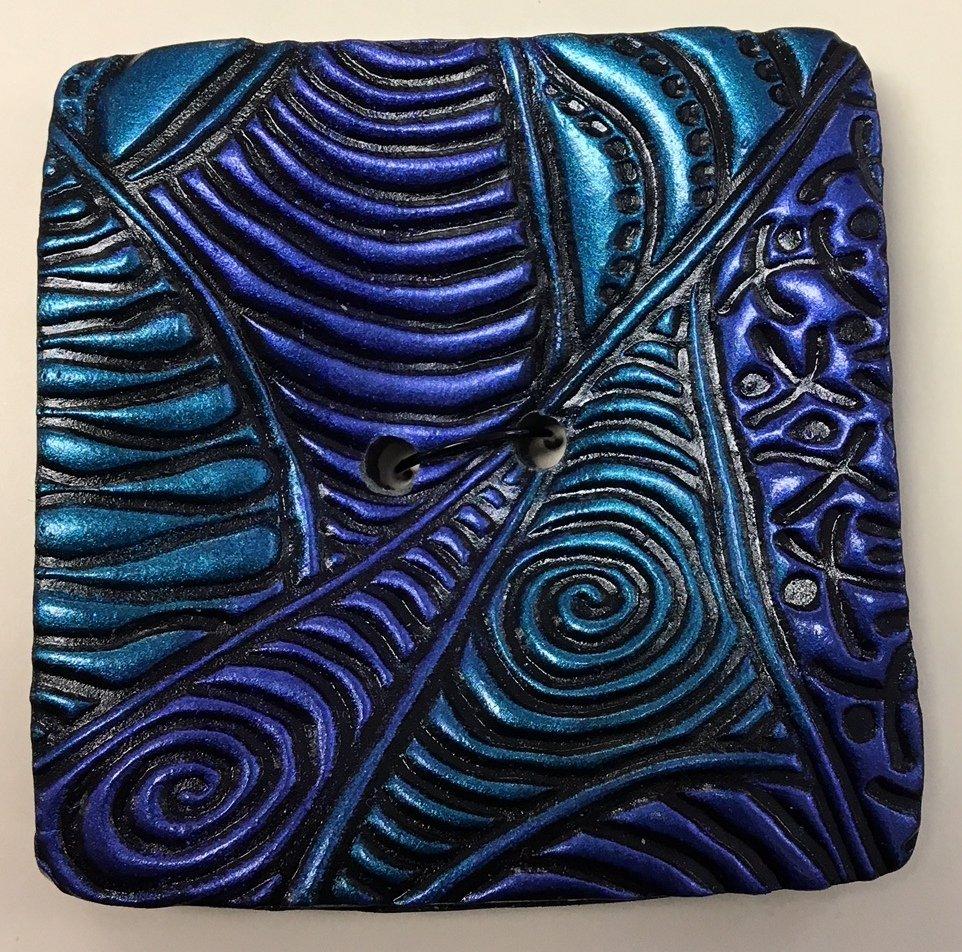 Exotica Square Turquoise/Purple