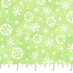 Snow Bears Snowflakes Green