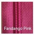 30 Double Pull Non Separating Zipper Fandango Pink