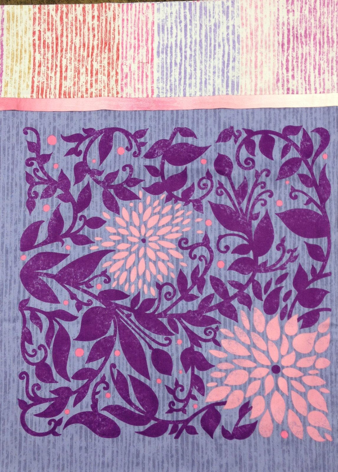 Purple with large floral Pillowcase