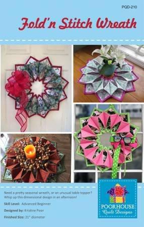Fold 'n Stitch Wreath by Poor House Designs