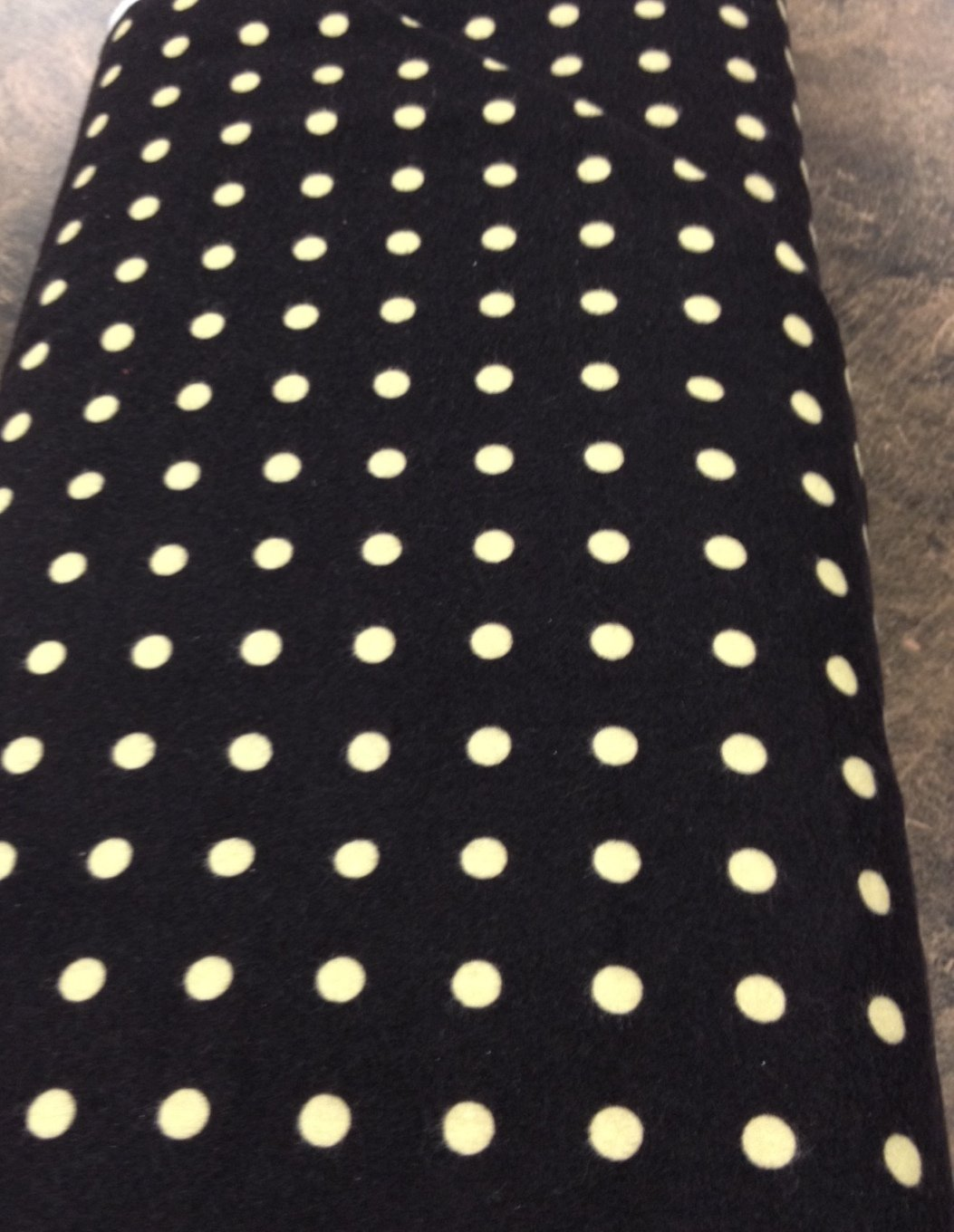 Woolies Flannel Dark Brown with beige dot