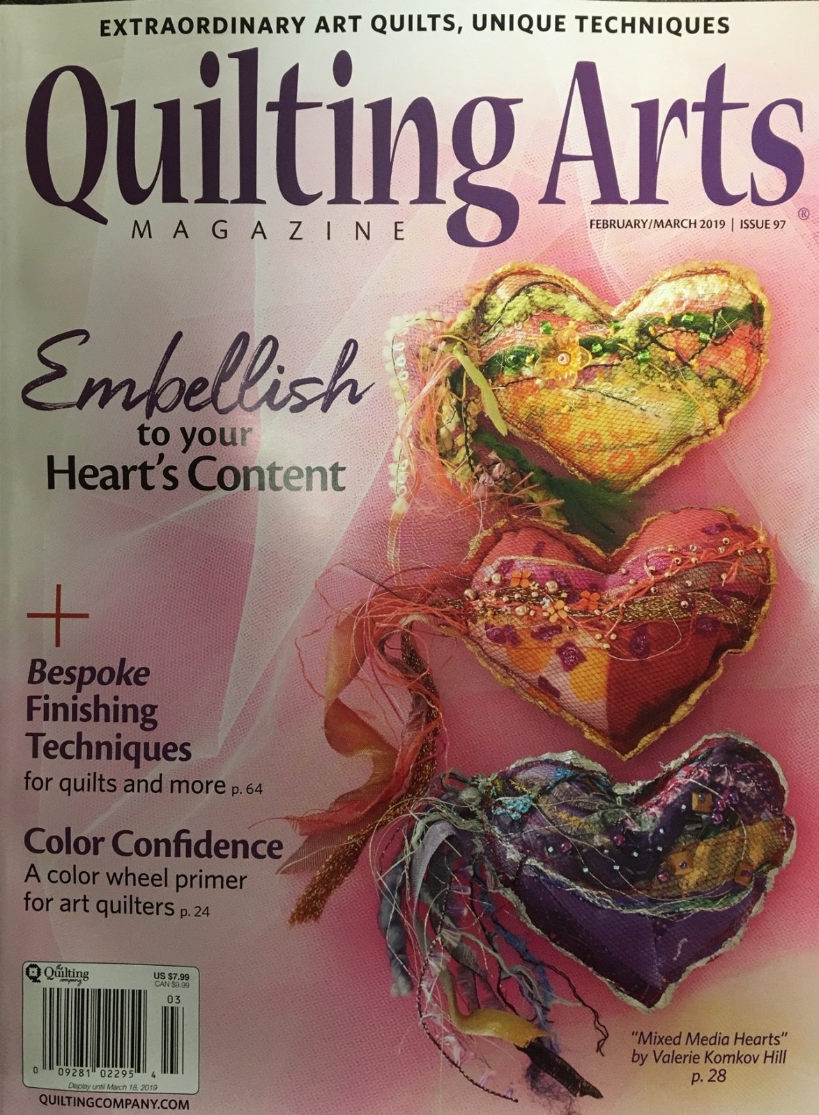 Quilting Arts Feb/March2019  Issue 97