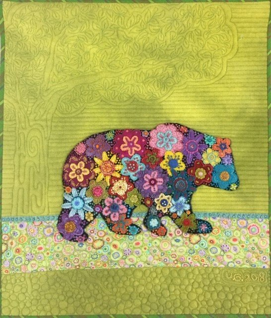 Bearly Flower Wall Hanging