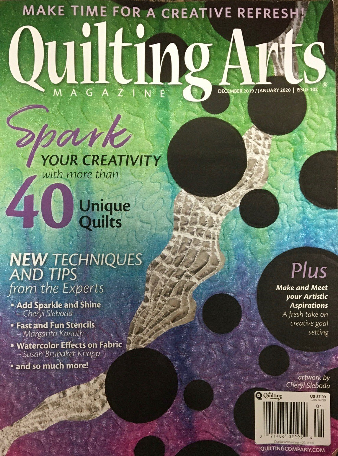 Quilting Arts Dec 2019/Jan 2020 Issue 102