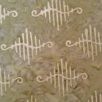 Cantik Batik Swurvy Lines Green Cream