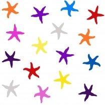 Under the Sea Starfish Multi Colour on White