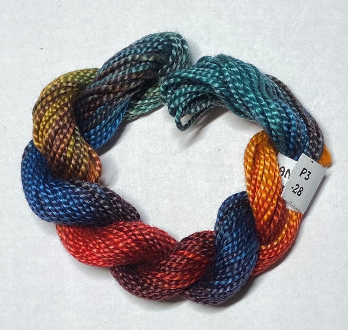#3 Perle Cotton Rust/Teal