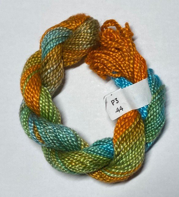 #3 Perle Cotton Teal/Rust
