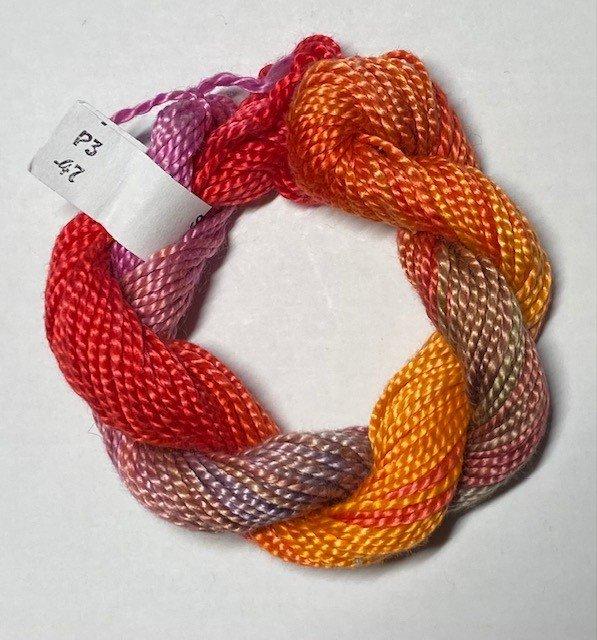 #3 Perle Cotton Orange/Coral/Pink