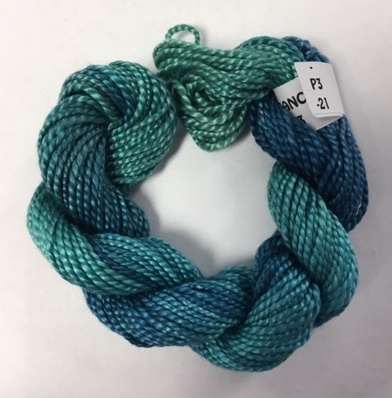 Teals #3 Perle Cotton