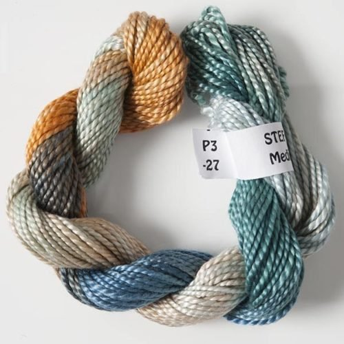 #3 Perle Cotton Teal/Brown/Grey